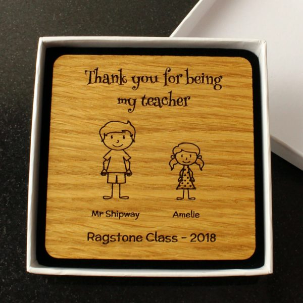 personalised teacher gift - 'thank you' coaster
