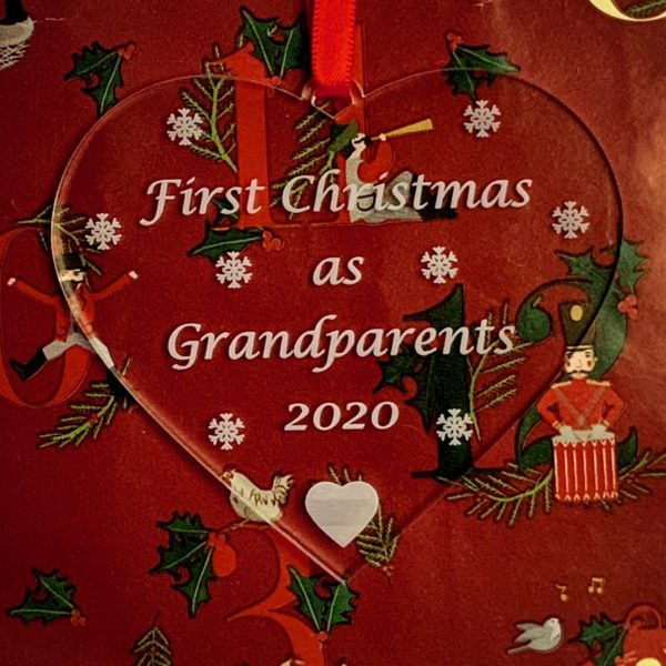 heart christmas bauble grandparent not personalised 10