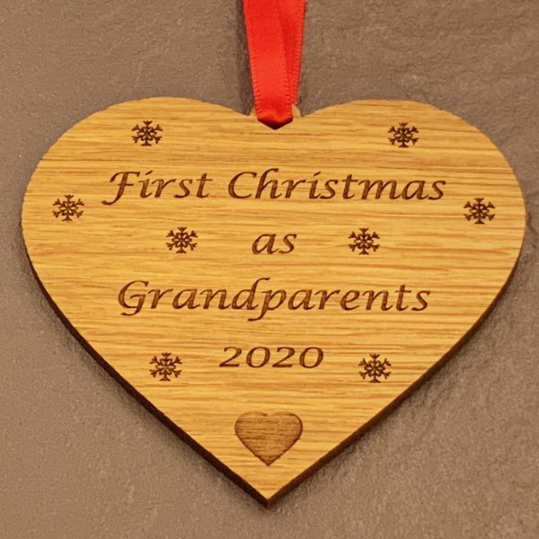 heart christmas bauble grandparent not personalised 13