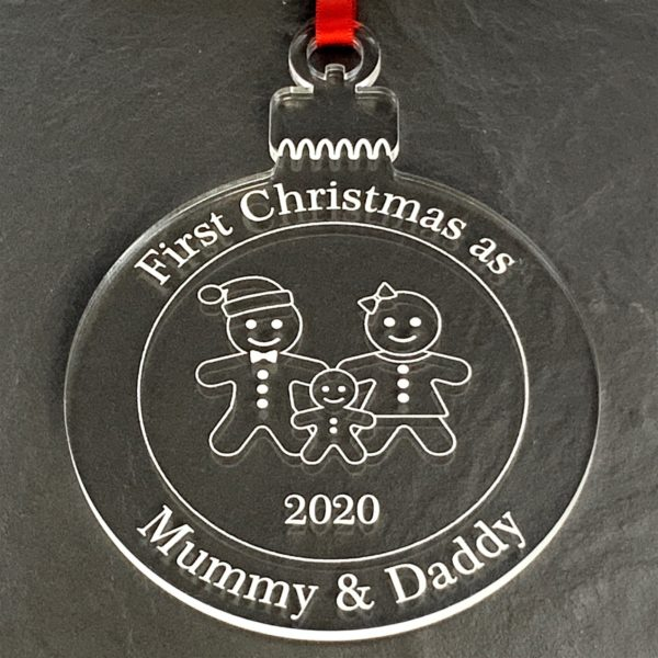 round christmas bauble mummydaddy not personalised 12