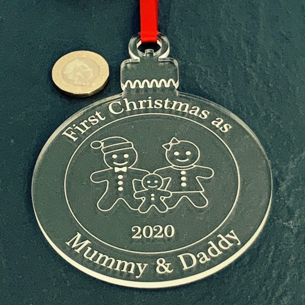 round christmas bauble mummydaddy not personalised 14
