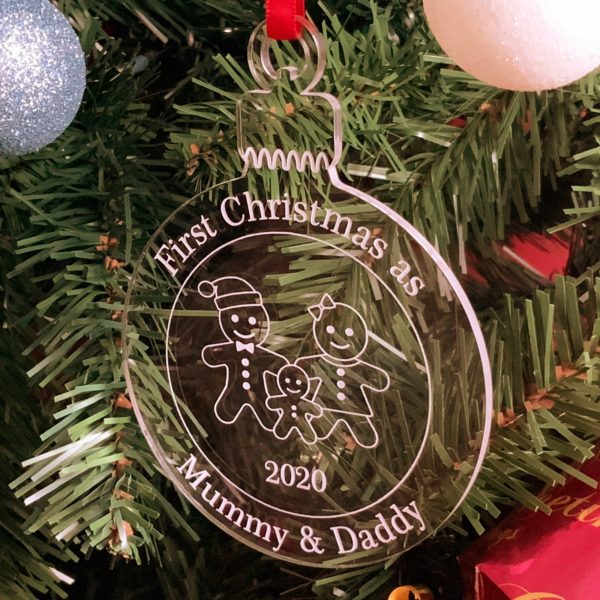 round christmas bauble mummydaddy not personalised 19