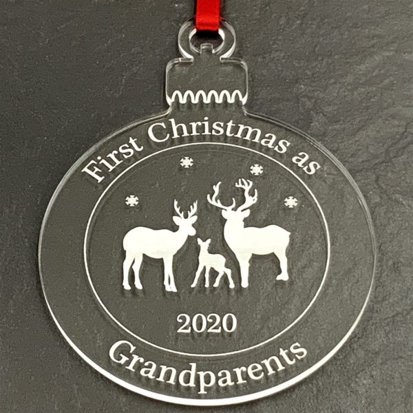 round christmas grandparent bauble not personalised 12