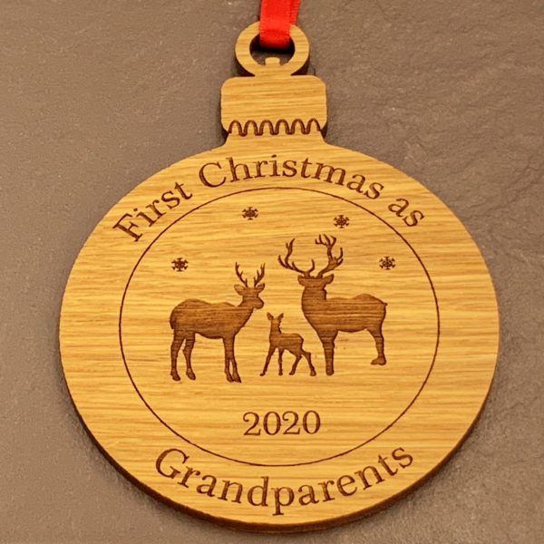 round christmas grandparent bauble not personalised 13