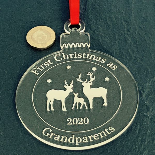 round christmas grandparent bauble not personalised 14