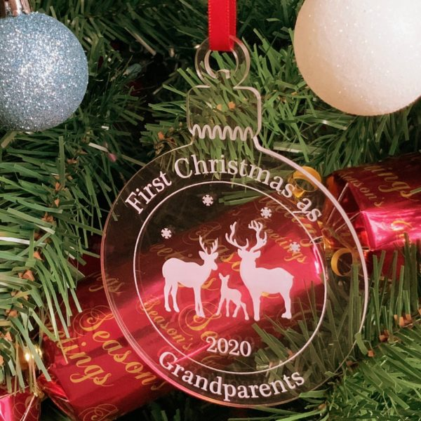 round christmas grandparent bauble not personalised 19
