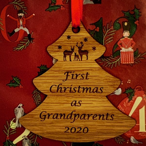 tree christmas bauble grandparent not personalised 11