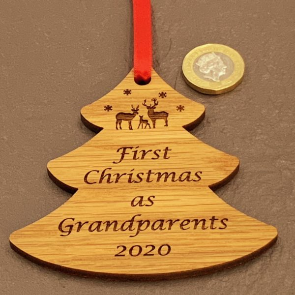 tree christmas bauble grandparent not personalised 15