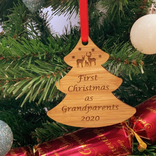tree christmas bauble grandparent not personalised 18