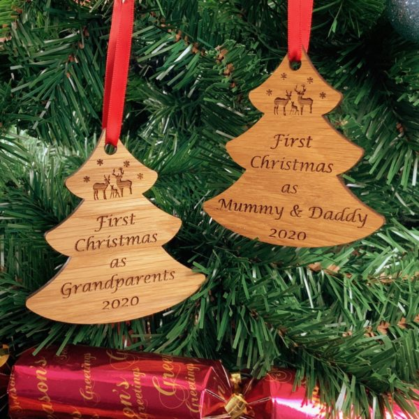 tree first christmas bauble pair 1