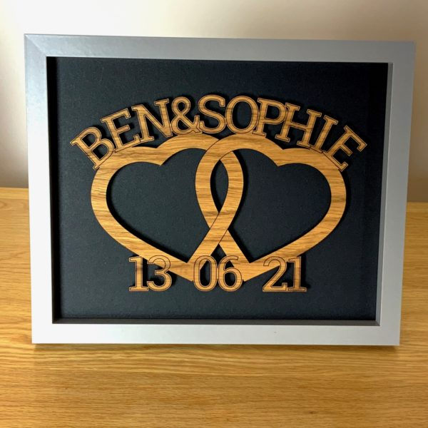 framed heart entwined names 11