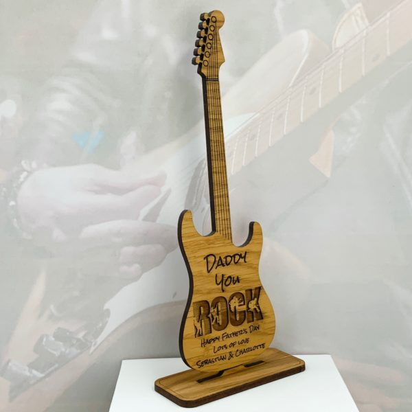 guitar freestanding fathers day gift 17